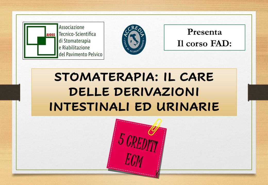 Course Image STOMATERAPIA: IL CARE DELLE DERIVAZIONI INTESTINALI ED URINARIE